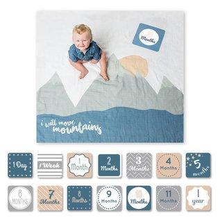 Lulujo Lulujo 1st Year Blanket & Milestone Card Gift Set
