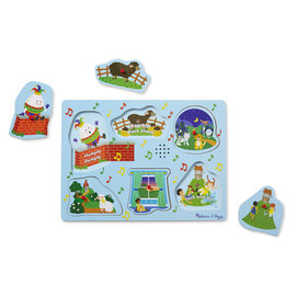 Melissa & Doug Nursery Rhymes Sound Puzzle Blue