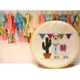 Genius Craft Boxes Make it yourself Llama Cross stitch
