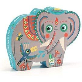 Djeco Asian Elephant Silhouette Puzzle- 24pc