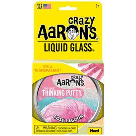 Crazy Aaron's Thinking Putty Rose Lagoon Liquid Glass Putty