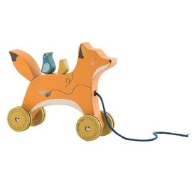 Moulin Roty Fox Pull-Along Toy