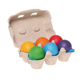 Grimms Grimms Rainbow Wooden Balls, 6pc