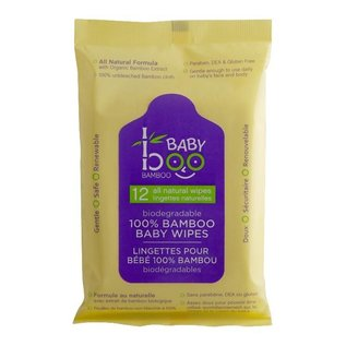 Baby Boo Bamboo Baby Boo Bamboo 100% Bamboo Baby Wipes- 12 Count