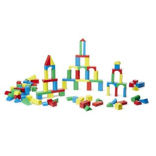 Melissa & Doug 100 Piece Wood Blocks Set