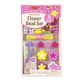 Melissa & Doug Decorate-Your-Own Wooden Flower Bead Set