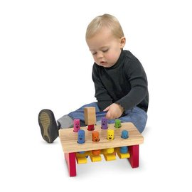 Melissa & Doug Deluxe Pounding Bench Toddler Toy