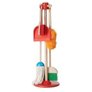Melissa & Doug Cleaning Set- Let's Play House! Dust, Sweep & Mop