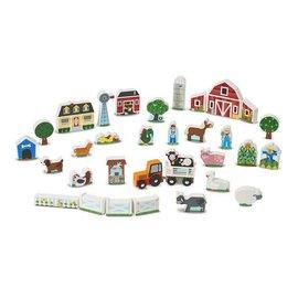 Melissa & Doug Wooden Farm & Tractor Play Set