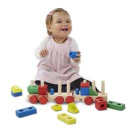 Melissa & Doug Stacking Train Toddler Toy