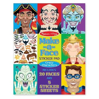 Melissa & Doug Make-A-Face Crazy Characters Sticker Pad
