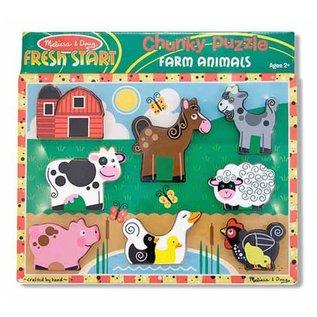 Melissa & Doug Farm Chunky Puzzle - 8 Pieces