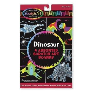 Melissa & Doug Scratch Magic Draw & Learn Dinosaurs