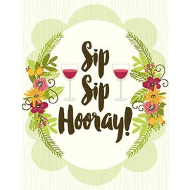 Yellow Bird Paper Greetings Sip Sip Hooray Greeting Card