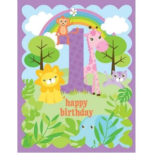 Yellow Bird Paper Greetings Kids GlitterBirthday Cards Ages 1-6