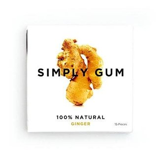Simply Gum Simply Gum Ginger Natural Chewing Gum