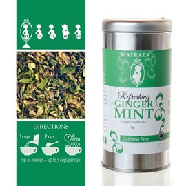 Matraea Refreshing Ginger Mint Tea 70g   (Certified Organic)