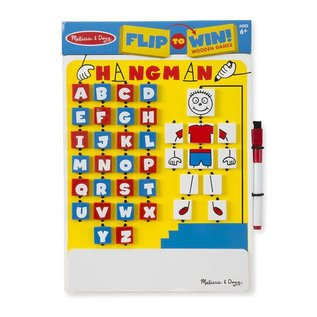 Melissa & Doug Flip-to-Win Hangman Travel Game