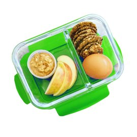 Bentgo Bentgo Glass 2-Compartment Glass Snack Container with Leak-Proof Lid