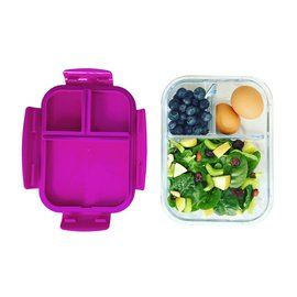 Bentgo Bentgo Glass 3 Compartment Glass Lunch Container with Leak-Proof Lid