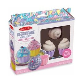 Melissa & Doug Delux Decoupage Made Easy Craft Set - Cupcakes