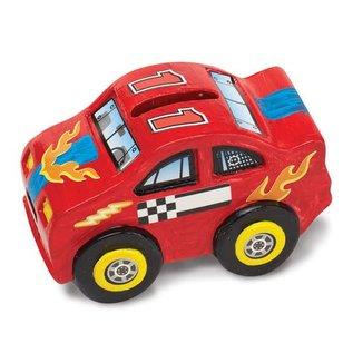 Melissa & Doug Decorate-Your-Own Race Car Bank