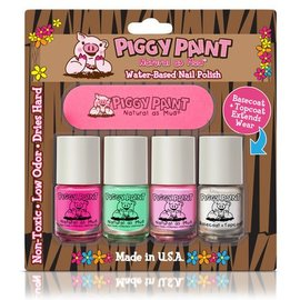 Piggy Paint Piggy Paint: 3 Colours Basecoat and Nail File