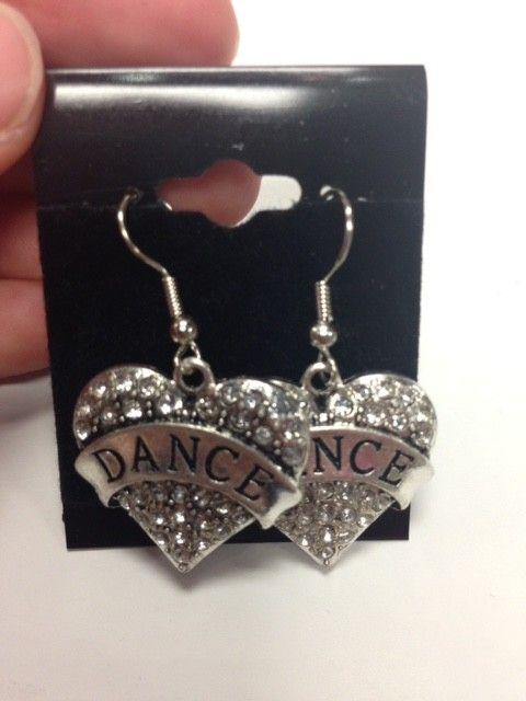 Motionwear 1231 Dance Heart Charm Earrings