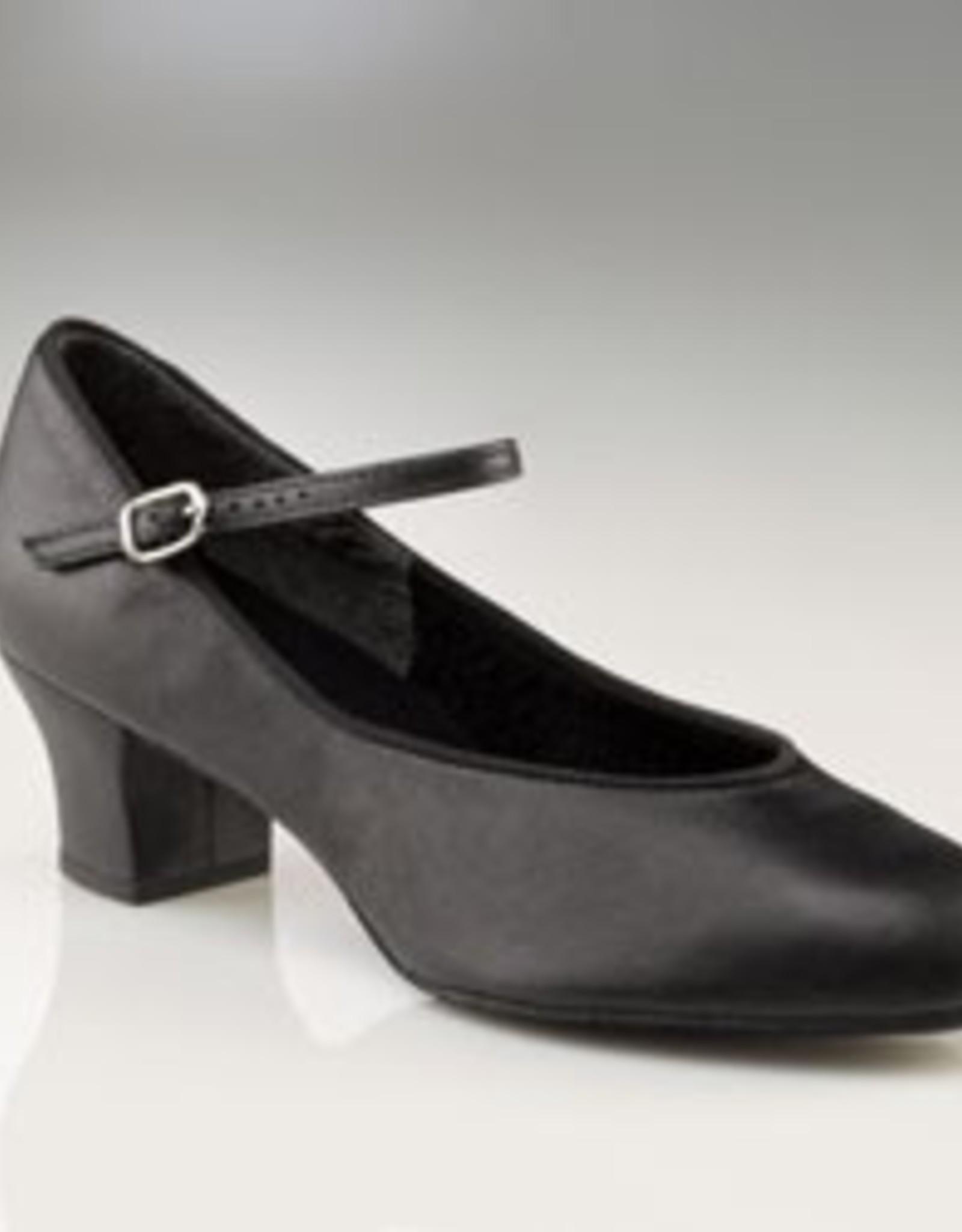 "Capezio 459 1.5"" Suede Sole Jr. Footlight™ Leather Character"