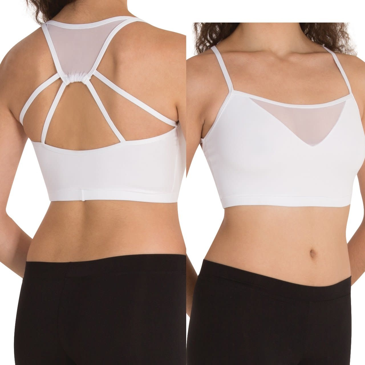 Body Wrappers BW9006 Mesh Camisole Crop Top - M