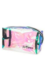 SoDanca Holographic Glossy Clear Mini Accessory Bag