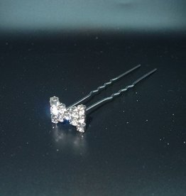 FH2 HP0123 Rhinestone Bow Pin