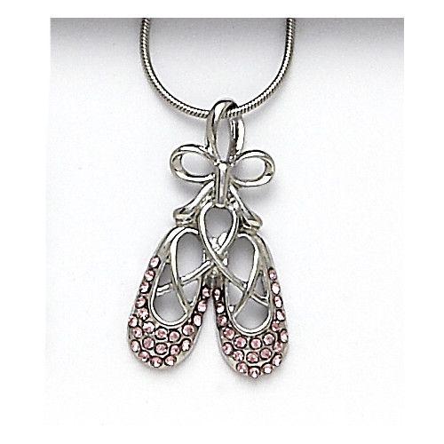 Dasha Designs 2781Pk Ballet Shoe Necklace