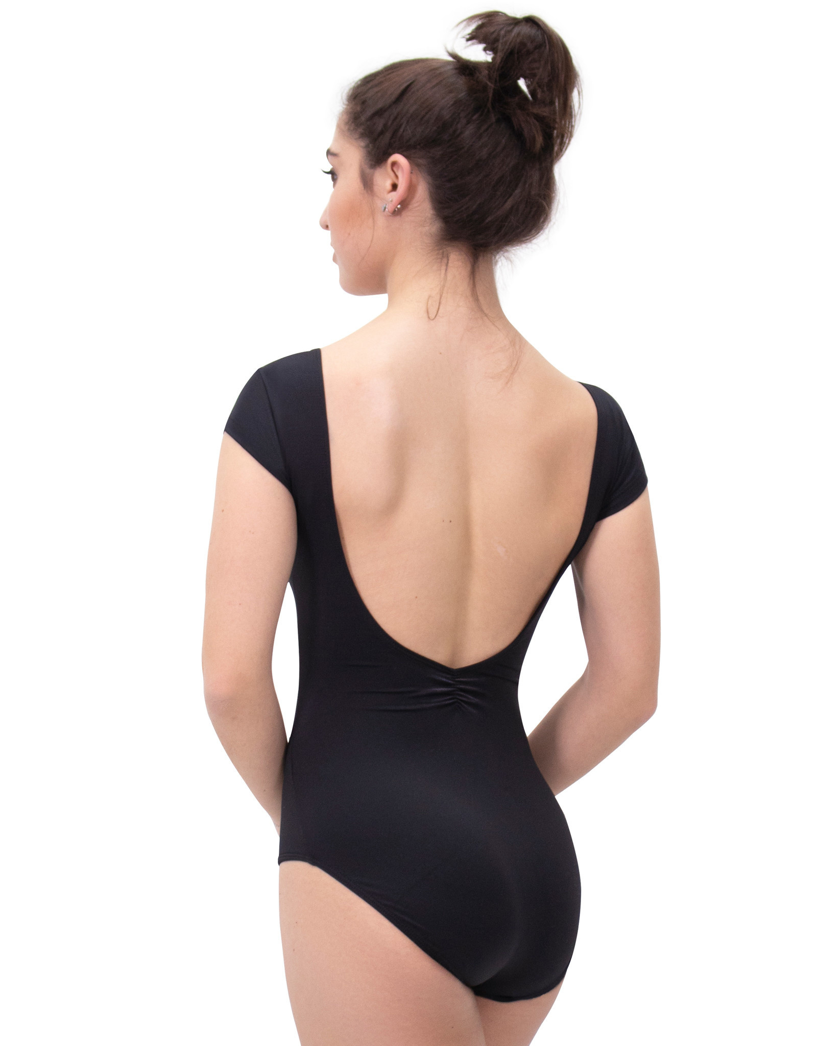 Eurotard 44525 - Pinch Front Cap Sleeve Low Back Leotard with Tactel® Microfiber