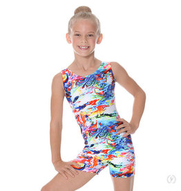 Eurotard 9503 - Eurotard Girls Crayon Art Gymnastics Biketard