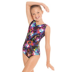 Eurotard 7589 Metallic Graffiti Gymnastics Leotard