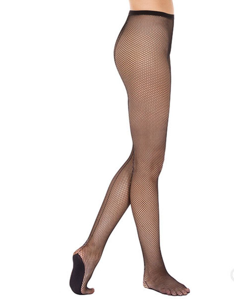 Eurotard 214 Professional Back Seam Fishnet Tights with Lined Foot by EuroSkins