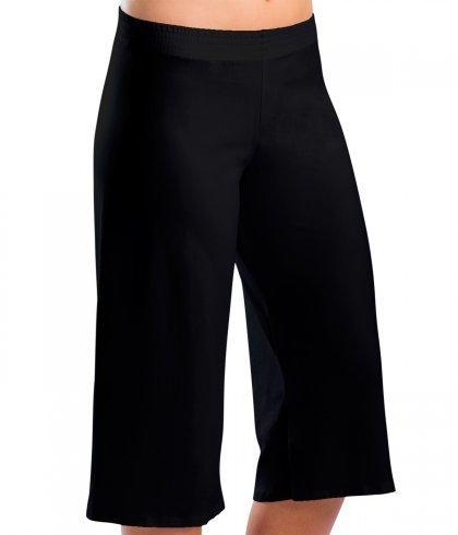 Motionwear 3204 Clamdigger Pants 497 BLK Silkskyn LA