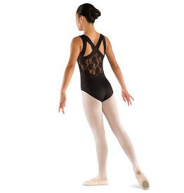 Danshūz 2403C Wide Strap Lace Back Leotard