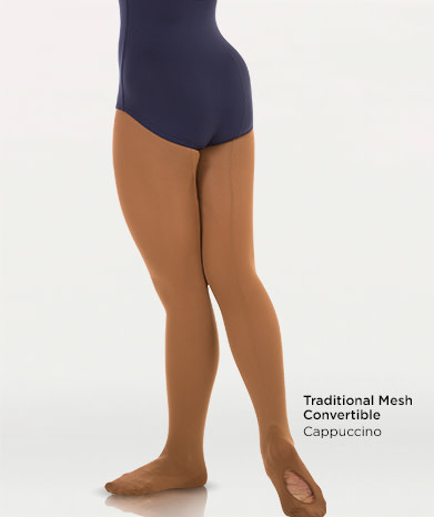 Body Wrappers A45 Mesh Back Seam Convertible Tights -