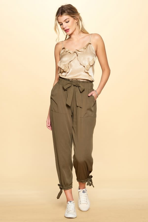 Oddi IP13285 Solid Woven Trousers