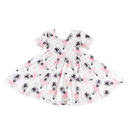 Mila & Rose Ballerina Short Sleeve Twirl Dress