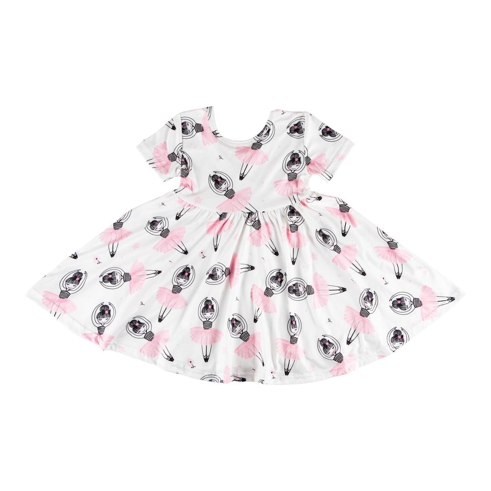 Mila & Rose Ballerina Short Sleeve Twirl Dress