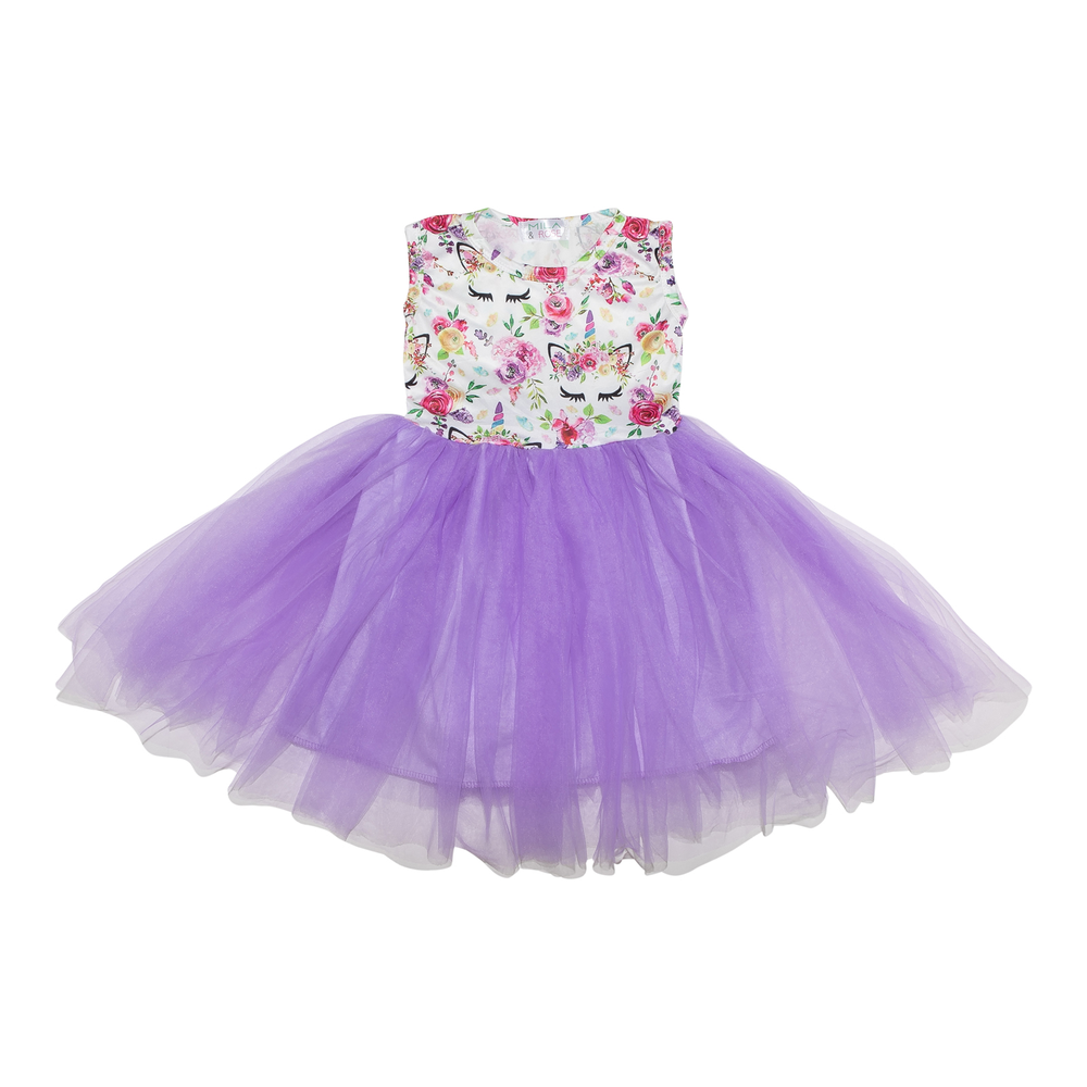 Mila & Rose Unicorn Dream Lavender Tank Tutu Dress