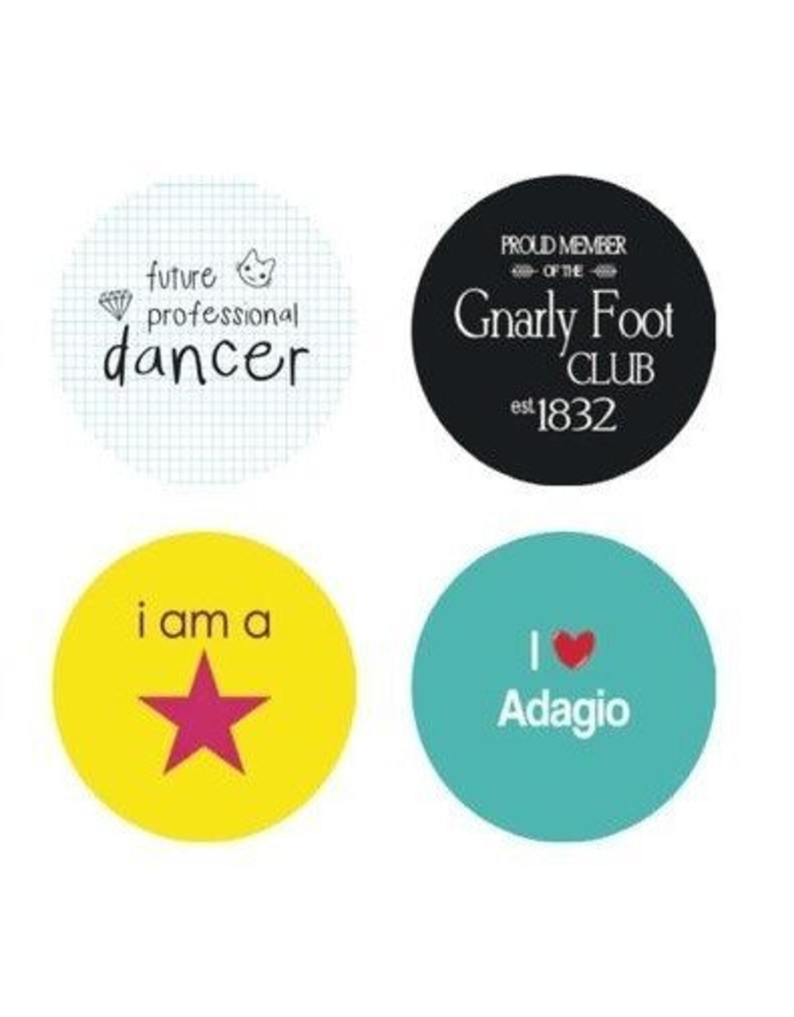 "B+ Printworks 100CC20 1"" Button - I Love Adagio"