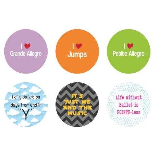 "B+ Printworks 100CC22 1"" Button - I Love Jumps"