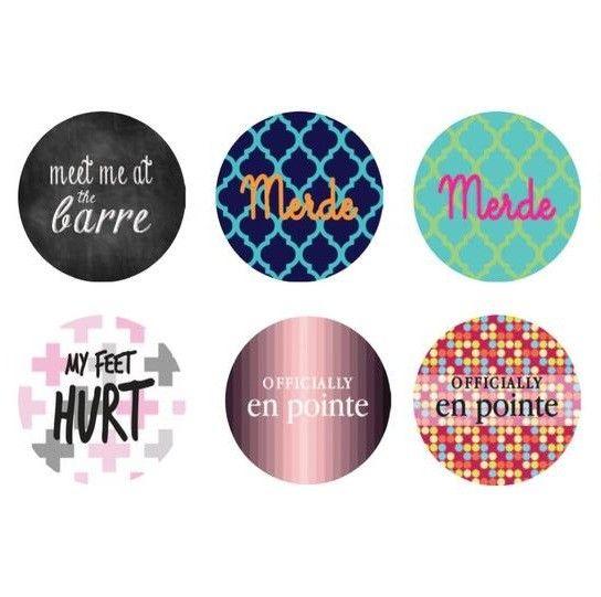 "B+ Printworks 100CC37 1"" Button - Officially en Pointe (Pink)"