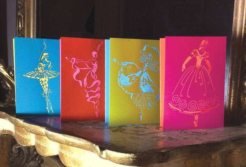 B+ Printworks 201CO02 Card - Arabesque (Orange/Pink)