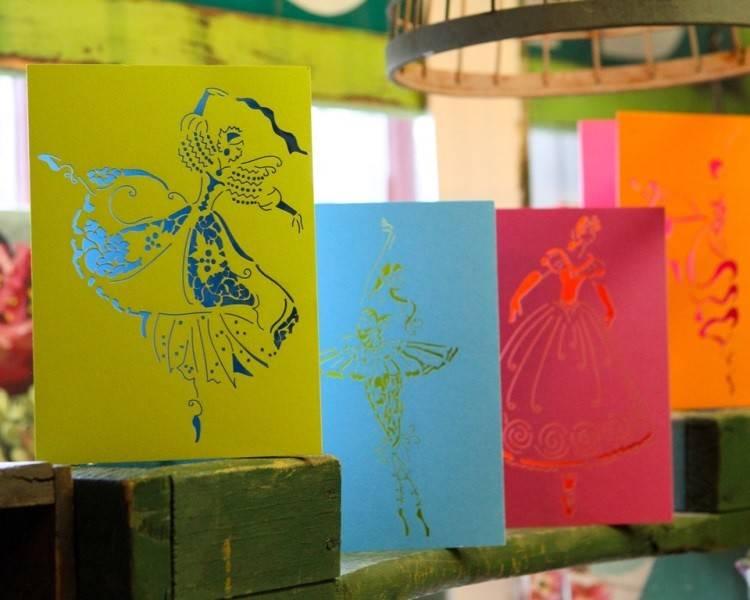 B+ Printworks 201CO04 Card - En Pointe (Blue/Green)