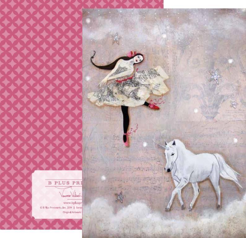 B+ Printworks 202VV02 Card - In a Dream (Unicorn)